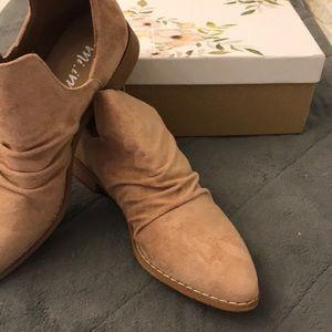 Dusty rose booties